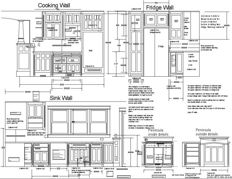 build kitchen cabinets free plans
